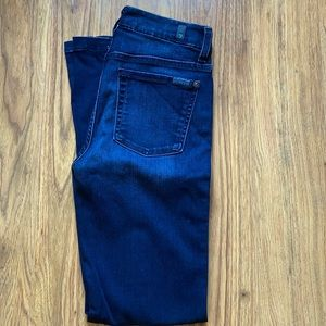 7 for all mankind dark wash jeans